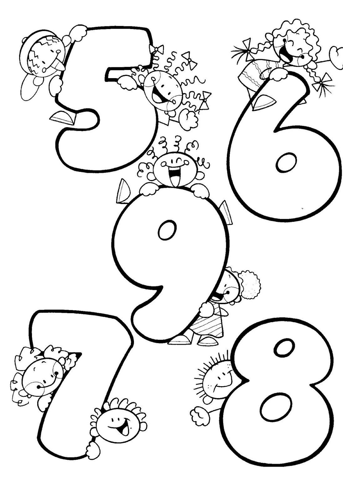Numeros Divertidos Mclife By Me Para Colorear El Numero
